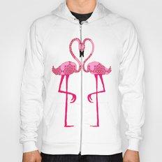Flamingo  in love Hoody