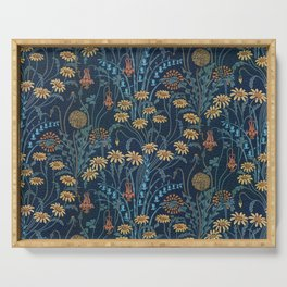 Dolce Donum Blue Floral by Walter Crane Serving Tray