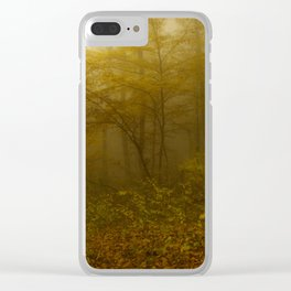 Forest mist Clear iPhone Case