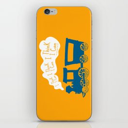 I Think I Can, I Think I Can, I Think I Can - The Little Engine that Could inspired Print iPhone Skin