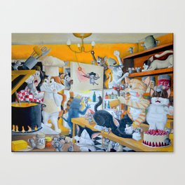 Chaos in the Kitchen Canvas Print