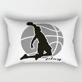 Basketball Player (monochrome) 2 Rectangular Pillow