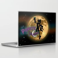 popeye Laptop & iPad Skins featuring POPEYE THE SAILOR MOON - 001 by Lazy Bones Studios