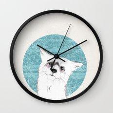 Waiting fox Wall Clock