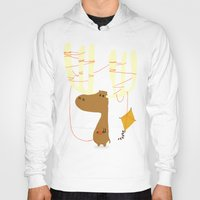 cartoon Hoodies featuring A moose ing by Picomodi