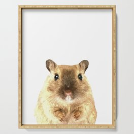 Hamster Portrait Serving Tray
