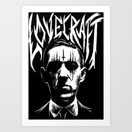 lovecraft metal band creator of cthulhu Art Print
