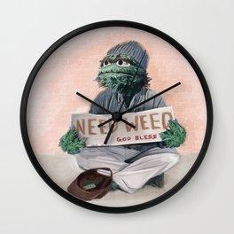 Oscar The Grouch Needs Weed - Sesame Street Wall Clock
