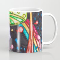 psychedelic Mugs featuring Psychedelic by kellyzebra