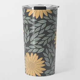 Autumn Flowers Travel Mug