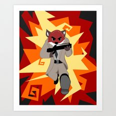 Fox Commando Art Print