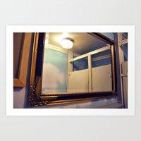 bathroom Art Prints featuring Bathroom by Melissa Martinez