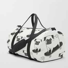 Skateboarding Pug Duffle Bag