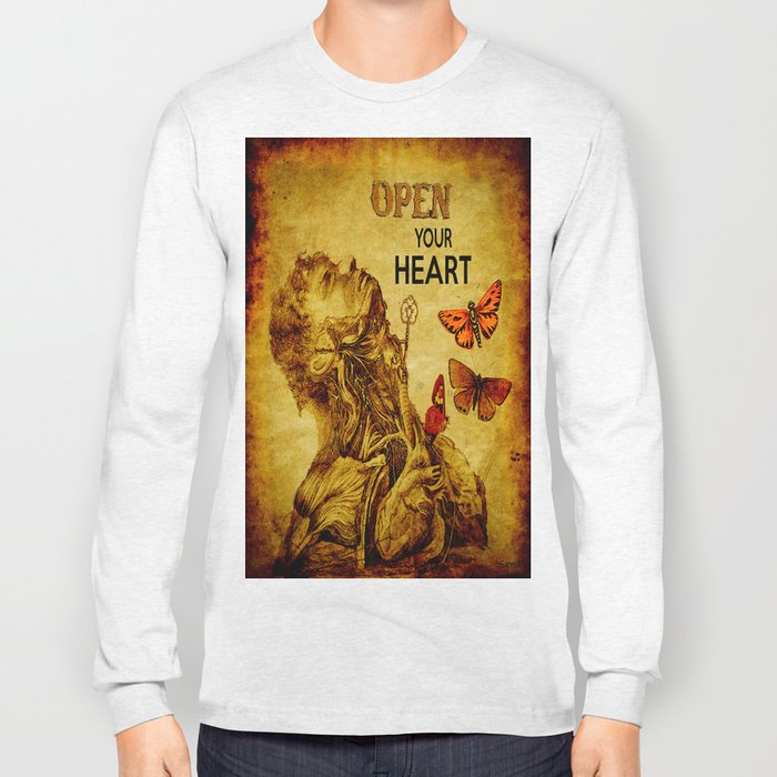 Open your Heart  Long Sleeve T-shirt