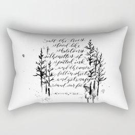 The Trees Stood Like Skeletons Rectangular Pillow