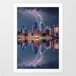 New York Storm Art Print