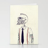 hipster Stationery Cards featuring The Gentleman becomes a Hipster  by Mike Koubou