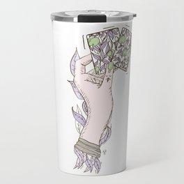 Apple lady. Cute purple Travel Mug