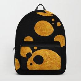 """""""Golden dots & black background"""" Backpack"""