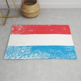 Luxembourg National Flag Grunge Rug