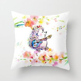Creating My Own Life Music Throw Pillow