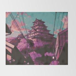 Hasetsu Castle Throw Blanket