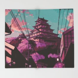 Hasetsu Castle Throw Blanket
