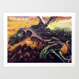 Blight Dragon Art Print