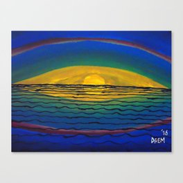 Reflection of the Sun Canvas Print