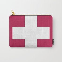 Swiss Cross Pink Carry-All Pouch