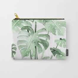 Delicate Monstera Green #society6 Carry-All Pouch