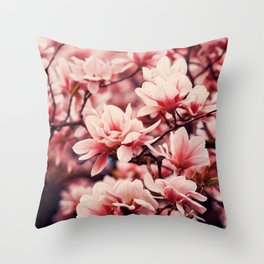 Cherry Blossoms Macro Throw Pillow