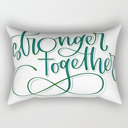 Stronger Together - Teal Rectangular Pillow