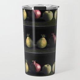 Holiday Fruit Stripes Photographic Pattern #1 Travel Mug