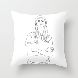 One line fashion illustration - Dani Throw Pillow
