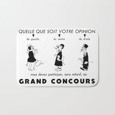 French Political Poster 1953 Bath Mat
