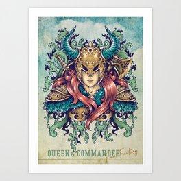 Queen & Commander Art Print