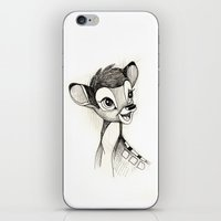 bambi iPhone & iPod Skins featuring Bambi by Herself