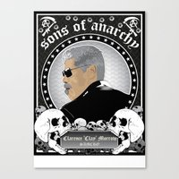 sons of anarchy Canvas Prints featuring Sons of Anarchy Series by Chad Trutt