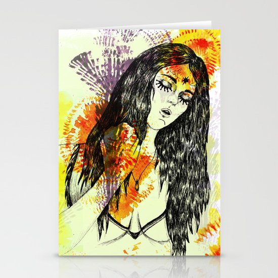 Tribal Beauty 3 Stationery Cards