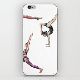 Yog poses art iPhone Skin