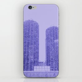Marina Towers - Chicago - Purple iPhone Skin