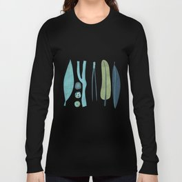 Sticks and Stones Illustration Long Sleeve T-shirt