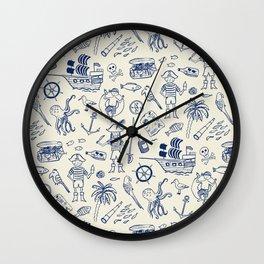 Pirate Play - Cream Wall Clock