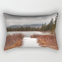 Winter Lily Pond Rectangular Pillow
