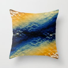 Tie-Dyed Waves Throw Pillow