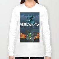 shingeki no kyojin Long Sleeve T-shirts featuring Shingeki No Ganon by Yoash