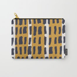 Brush Stroke with Mustard 04 - Abstract Minimal Shapes Modern Mid Century Texture Carry-All Pouch