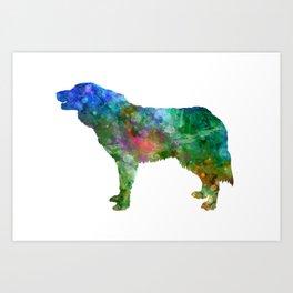 Bosnian and Herzegovinian Croatian Shepherd Dog in watercolor 2 Art Print