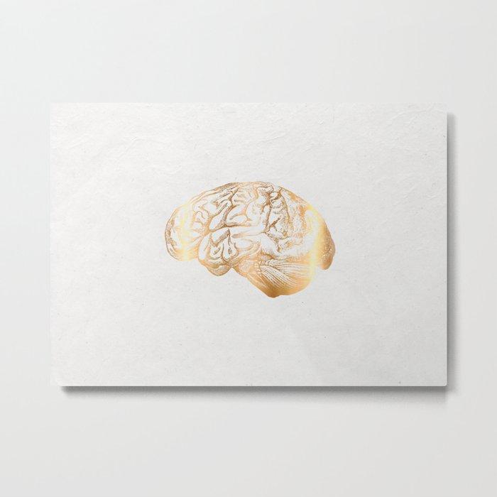 gold matter Metal Print